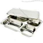 Stainless Steel Lunch Tray with Lid