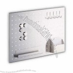 Stainless Steel Memo Board with Satin Finish and Convenient to Use