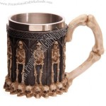 Stainless steel Mug with Skull Decoative