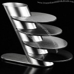 Stainless Steel Round Coaster Set with Holder