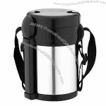 Stainless Steel Vacuum Food Flask with 3 Layers and 2000ml Capacity