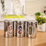 Stainless Steel Visible Window Canister Set