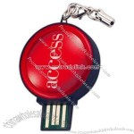 Standard Shaped Epoxy Dome Usb Flash Drive With Keyring(1)