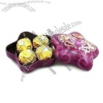 Star-shaped Tin Box for Christmas Decoration and Gift
