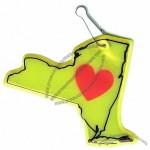State Shape Reflector Tags