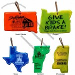 State Shaped Reflector Tags