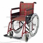 Steel Economic Wheelchair with 24-inch PU Rear Wheels and Single Cross Brace