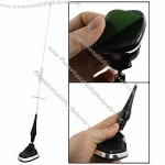 "Sticky Base 14.8"" Height Plastic Metal Antenna Decor for Car Auto Vehicle"