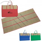 Straw Beach Mat Tote Bag