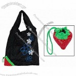Strawberry Black Magic Foldable Shopping Shoulder Bag Keychian