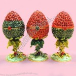 Strawberry Design Easter Egg Jewelry Box