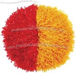 "Streamer Half & Half Pom Poms 3/16"" Plastic Two Color"