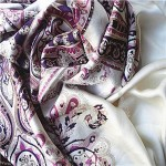 Stretch Satin Chiffon Fabric Scarf