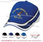 Structured 6 panel cap with trim design from crown to visor.