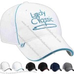 Structured breakaway cap with mesh side and back panels.