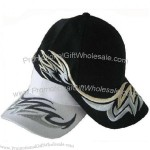 Stylish black and white baseball cap