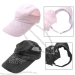 Stylish Flower Mesh Trucker Sun Visor Hat Baseball Cap