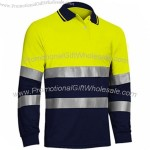 Summer Men Hi Vis Reflective Safety Polo Shirts