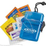 Sun protection outdoors kit in a plastic container,