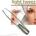 Super Light Tweezer Precision Eyebrow Tweezer With LED