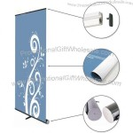 "Super Portable Black Base Roll Up Banner Stand 33"" W x 79"" H"