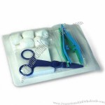 Surgical Kit, Includes 1-piece Scissors and 5-piece Gauze Ball