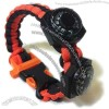 Survival Bracelet Whistle Buckle with Compass and Thermometer