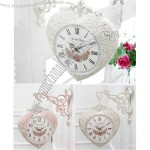Sweet Heart-Shaped Double Side Wall Clock