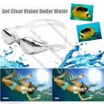 Swimming Goggles for Short-Sightedness / Normal Vision – Includes Free Ear Plugs