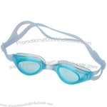 """Swimming goggles made with silicone and plastic . 3 1/4"""" x 1 1/4""""."""