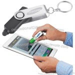 Swivel LED Keychain Light and Stylus