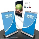 Table Roll Up Banner Stand Display - Desktop Mini Banner Stands