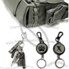 Tactical Pull Reel Key Chain Steel Cord