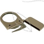 Tarnish proof silver plated solid brass magnifier with letter opener.