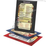 "Taylor - 8 1/2"" x 14"" - Menu board with durable top quality bookbinder's material"