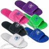 Terry Slippers with Velcro Closure - Colors