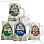 The Beer King Glass Stein