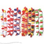 Three-color Hawaiian Flower Lei