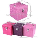 Three Layer Jewelry Boxes With Mirror