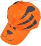 Tiger-shaped novelty cap for kid.