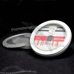Tin Round Case with Clear Window for 10 CD/DVD