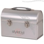 Tin Silver Workman Lunch Box