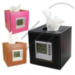Tissue Box With LCD Clock