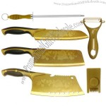 Titanium Gold Knife Set