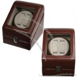 Top Quality Leather Automatic Double Watch Winder Box