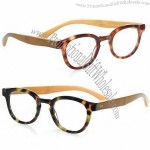 Tortoise Reading Glasses with Bamboo Temples