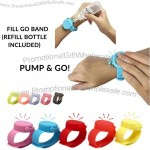 Touchless Hand Sanitizer Adjustable Wristband GO Band Sanitizer - Refillable Silicone Wristband