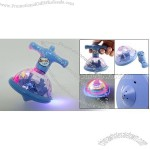 Toy - Cool Blue Plastic Colorful Flashing Spinning Top with Music