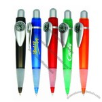 Translucnt pen w/comfort grip and compass