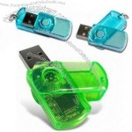 Transparent Plastic USB Flash Drive